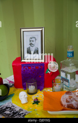 Day of the Dead Ofrenda at Wahaca Restaurant in London, Southbank - UK - Stock Photo