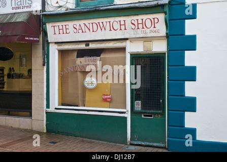 The Sandwich Shop, Parsons Street, Banbury, Oxfordshire, UK. - Stock Photo