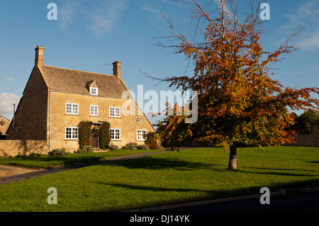 Willersey village in autumn, Gloucestershire, England, UK - Stock Photo