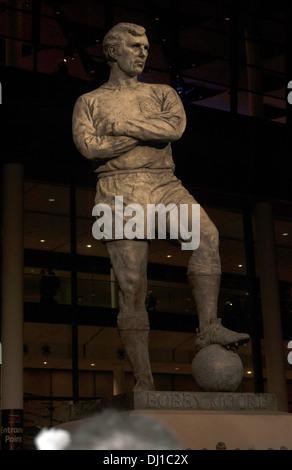 Bobby Moore statue, England Captain, Wembley Stadium, London, England, United Kingdom - Stock Photo
