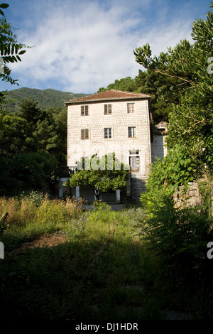 ... Old stone house in mountains - Stock Photo