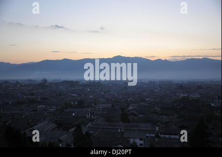 old town of lijiang in China on the the morning - Stock Photo