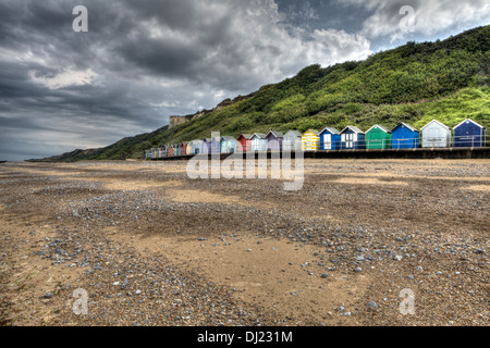 Colorful Huts under the Cloud - Stock Photo