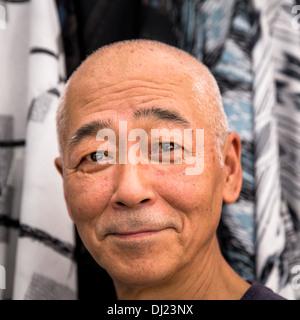 Portrait of a smiling Japanese man, Kyoto, Japan