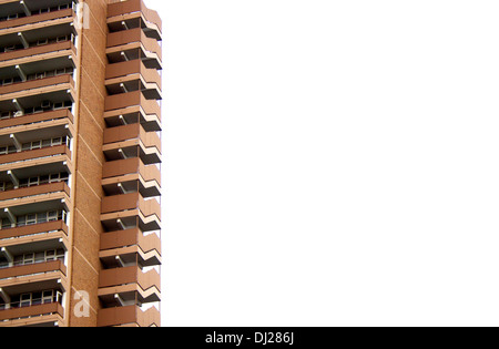 end section of high rise residential apartment building - Stock Photo