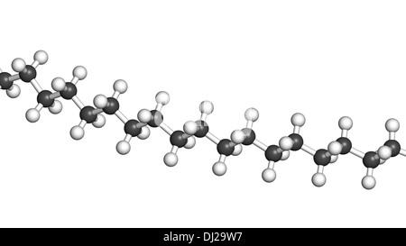 Polyethylene (PE, polythene, polyethene) plastic, chemical structure - linear fragment (detail). - Stock Photo