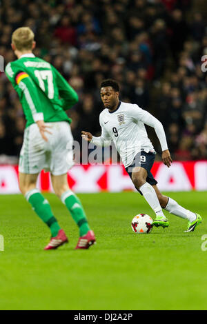 London, UK. 19th Nov, 2013. England's Daniel STURRIDGE during the International football friendly game between England - Stock Photo