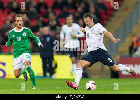 London, UK. 19th Nov, 2013. England's Phil JAGIELKA during the International football friendly game between England - Stock Photo