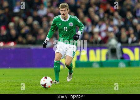 London, UK. 19th Nov, 2013. Germany's Toni KROOS during the International football friendly game between England - Stock Photo