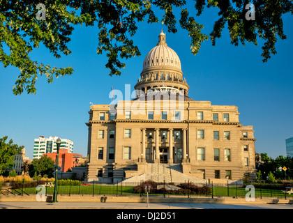 Idaho capital building and park - Stock Photo