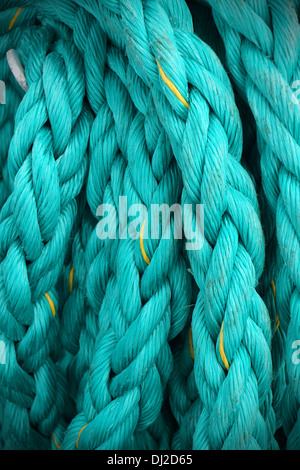 Close up of mooring rope or ship cable, great texture and details. - Stock Photo