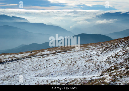 Pyrenees  first snow of the season, Spain - Stock Photo
