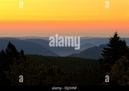 Dawn over the Black Forest Germany - Stock Photo