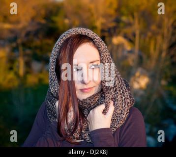 Autumn woman portrait - Stock Photo
