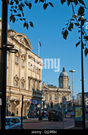 Hull, UK, 19th Nov, 2013. Hull City Hall in the sun 0n Tuesday 19th November the day before the announcement that - Stock Photo