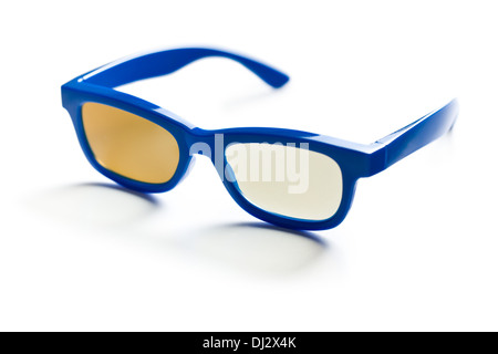 3d polarized glasses on white background - Stock Photo
