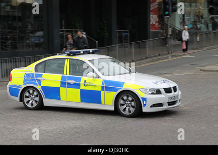 One police car in scotland - Stock Photo