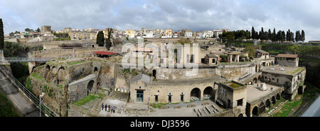 Herculaneum, Bay of Naples, Italy.  Picture by Paul Heyes, Thursday March 28, 2013. - Stock Photo
