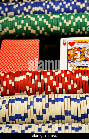 A scene from the poker table - Stock Photo