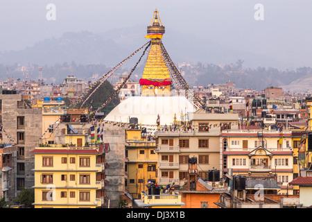 Bodhnath Stupa, Kathmandu, Nepal - Stock Photo