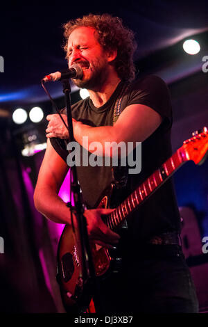 Milan Italy. 19th November 2013. The American indie-rock band PHOSPHORESCENT performs live at the Salumeria Della - Stock Photo