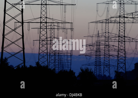 transmission lines - Stock Photo