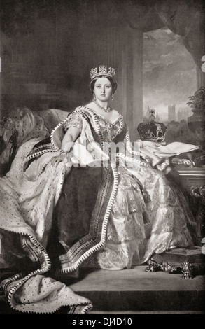 Queen Victoria, 1819 – 1901. Queen of the United Kingdom of Great Britain and Ireland. - Stock Photo