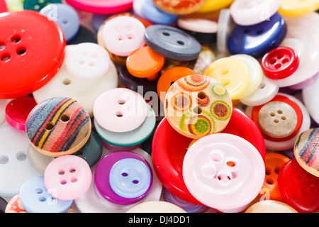 Pile of buttons close up - Stock Photo