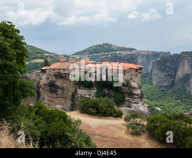 Holy Monastery of Varlaam at Meteora, Greece - Stock Photo