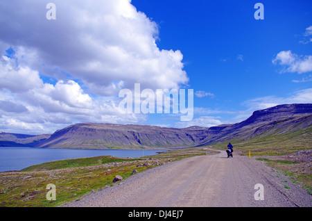 lonely rider - Stock Photo