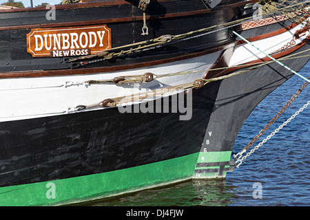 Dunbrody Famine Ship, New Ross, Co. Wexford, Ireland - Stock Photo