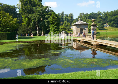 Exterior views of the Cistercian Monastery Fountains Abbey North Yorkshire England. - Stock Photo
