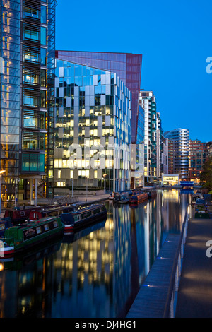 Office and Residential Buildings, Paddington Basin Development, London, England - Stock Photo