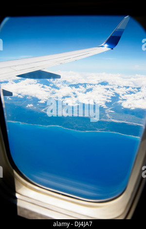View from airpalne window. - Stock Photo