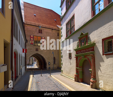 Town Hall pass in Mühlhausen, Thuringia, Germany - Stock Photo
