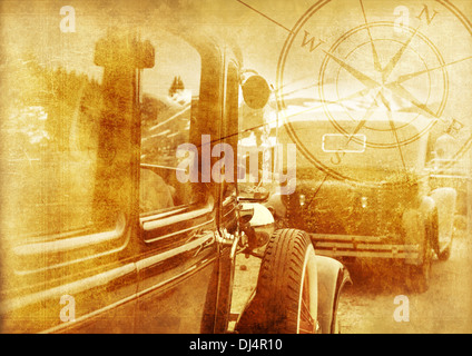 Classic Cars Background Oldtimers World Vintage Cars On A