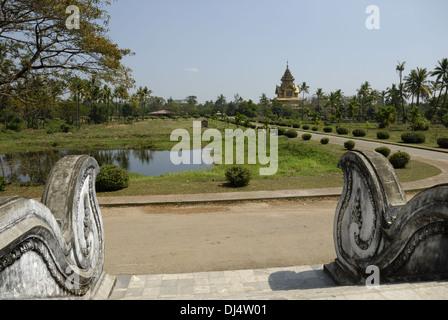 Kambawzathardi Golden Palace - Stock Photo