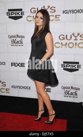 Mila Kunis Spike TV's 2012 'Guys Choice' held at Sony Studios - Arrivals Culver City, California - 02.06.12 - Stock Photo