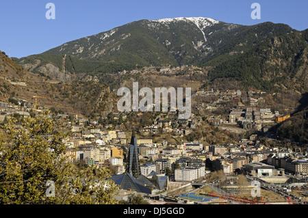 View of Escaldes-Engordany, Andorra - Stock Photo