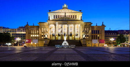 panorama with konzerthaus (concert house) in berlin, germany, at night - Stock Photo