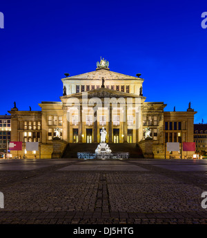 konzerthaus (concert house) in berlin, germany, at night - Stock Photo