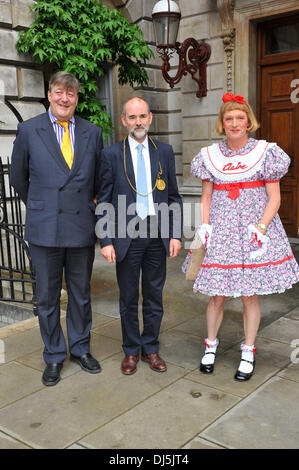 Stephen Fry, Grayson Perry and David Chipperfield The Royal Academy of Arts unveils plans for The Keeper's House - Stock Photo