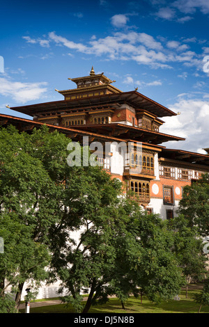 Bhutan, Punakha Dzong, historic monastery and administrative centre - Stock Photo