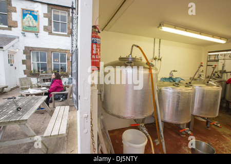 The micro brewery attached to the ship In at Low Newton by the Sea, Northumberland, Uk, that brews all their own - Stock Photo