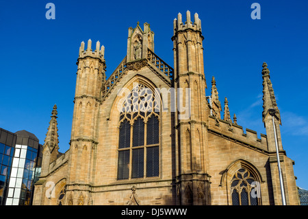 Front facade of the Metropolitan Cathedral, Church of St Andrews, Clyde Street, Glasgow, Scotland, Great Britain - Stock Photo