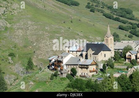 Le Chazelet Alpine Village La Grave Haute-Alpes French Alps France - Stock Photo