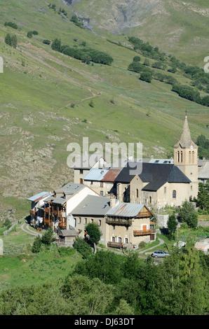 Le Chazelet Hamlet or Alpine Village La Grave Haute-Alpes French Alps France - Stock Photo