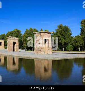 Famous Debod Temple in Madrid, Spain - Stock Photo