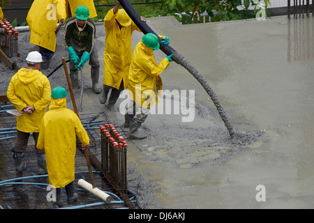 Concreting works - Stock Photo