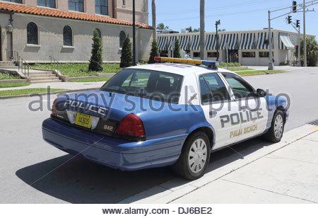 palm beach police car on the florida coast - Stock Photo
